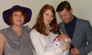 Joe Robinson, pictured with his mother, Sharon, sister Lauren and niece Willow.