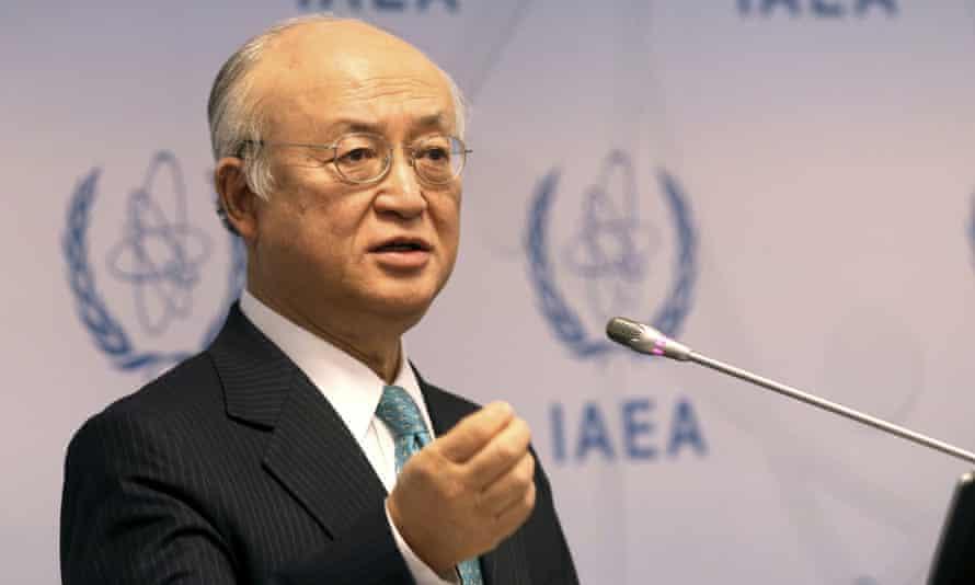 The IAEA director-general, Yukiya Amano