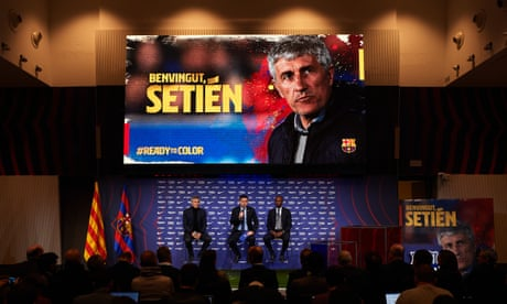 Camp Moo: Quique Setién goes from cows to Barcelona job in 24 hours
