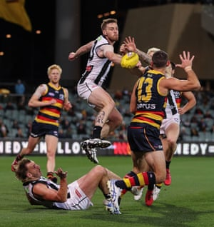 Adelaide play Collingwood at the Adelaide oval last year.