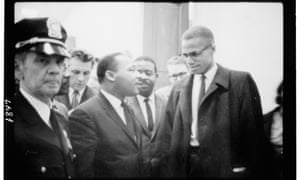 Martin Luther King and Malcolm X together – their only meeting – on Capitol Hill, 26 March 1964.