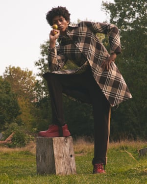 Coat, shirt, stirrup trousers, and shoes, all prada.com