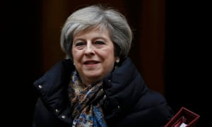 Britain's Prime Minister Theresa May leaves Number 10 Downing Street in London