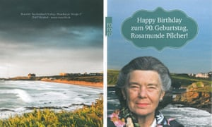 Rosamunde Pilcher's 90th birthday card. She was a cult figure in Germany