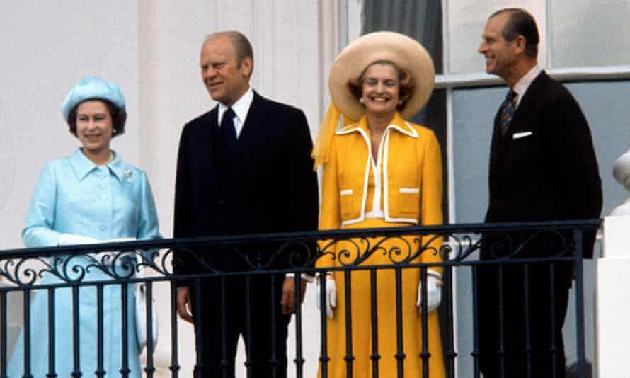 Queen Philip and Prince with Gerald and Betty Ford in 1976.
