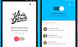 Google's latest app tells friends when you're free to do something