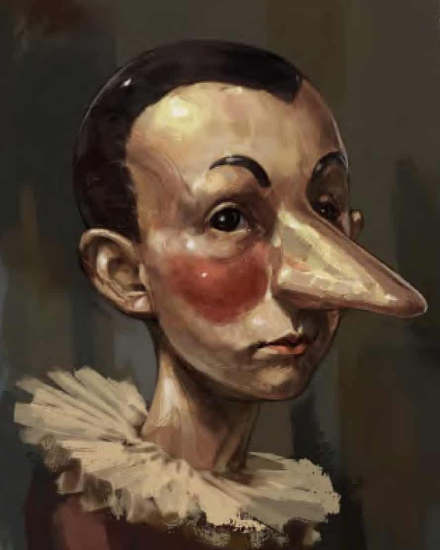 An early character design for Pinocchio by Pietro Scola Di Mambro for Matteo Garrone's new film production.