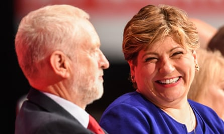 Emily Thornberry With Jeremy Corbyn at this year's Labour party conference in Brighton