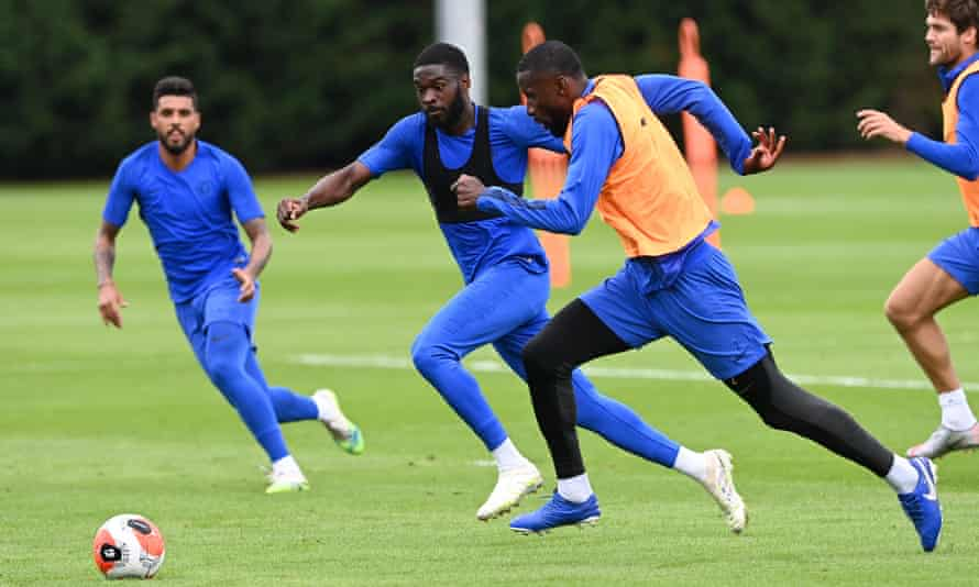 Fikayo Tomori (left centre) and Antonio Rüdiger (right centre) will try to force their way back into Frank Lampard's plans.