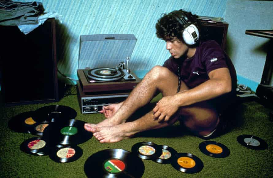 A young Diego Maradona.