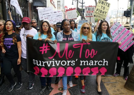 Tarana Burke at the #MeToo march against sexual assault and harassment, Hollywood, 2017