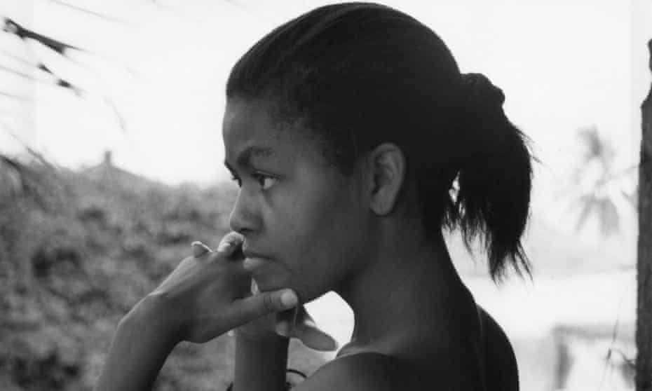Michelle Obama as a young woman