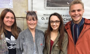 Katrina Burgess (second from left) with fellow Liam Gallagher fans.