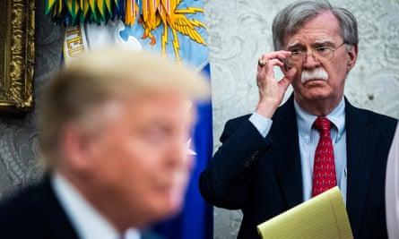John Bolton listens to President Trump, May 2019.