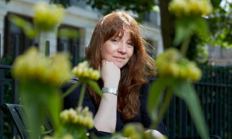 Eimear McBride pictured in a garden