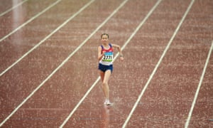 Olga Kaniskina competing in the 20km walk at the Beijing 2008 Olympics