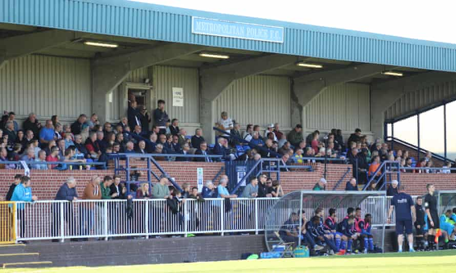 Imber Court in Molesey, where Met Police play their home games. A crowd around 10 times larger than usual is expected against Newport.