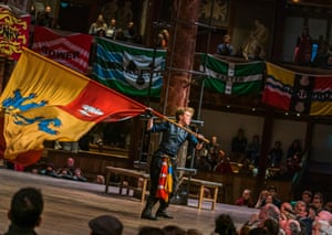 Michelle Terry (Hotspur) in Henry lV Part l at the Globe.