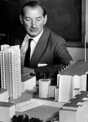 Human scale … city architect Arthur Ling with a design model.
