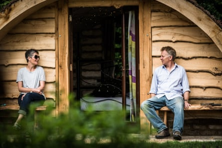Jacqueline and Simon Saggers at their Guilden Gate smallholding in Hertfordshire