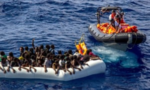 MSF rescue mission in the Mediterranean