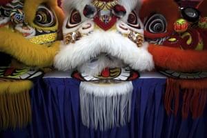 Lion-head costumes