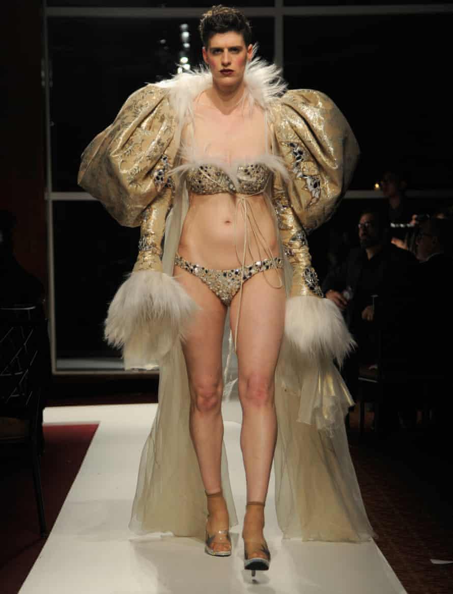 Modelling womenswear in New York in 2016.
