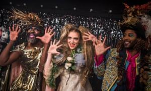 Le Gateau Chocolat, Lucy McCormick and Peter Brathwaite in Effigies of Wickedness! (Songs Banned by the Nazis) at Gate theatre, London.