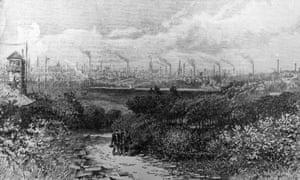 The industrial skyline of Preston, Lancashire