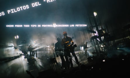Massive Attack performing in Mexico earlier this year