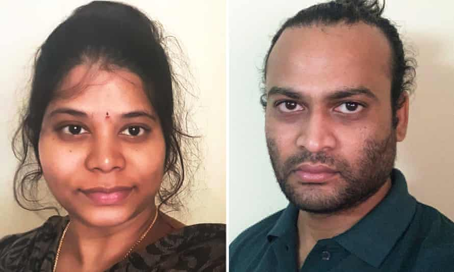 Shruthi and Vamshi Parepalli, who travelled to India after the government refused to allow Vamshi's mother to enter Australia during the pandemic to be with him and his wife.