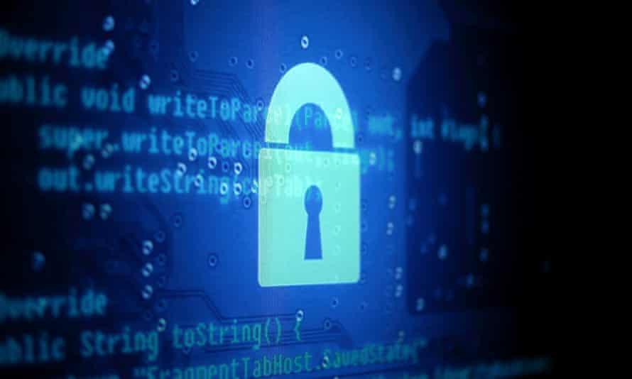 Drawn lock in front of java code screenshot