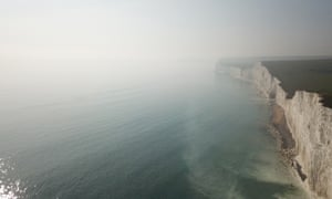 The chemical cloud over Beachy Head.