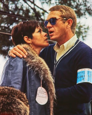 American actor and racer Steve McQueen and his wife, actress Neile Adams at the 1965 Monaco Grand Prix