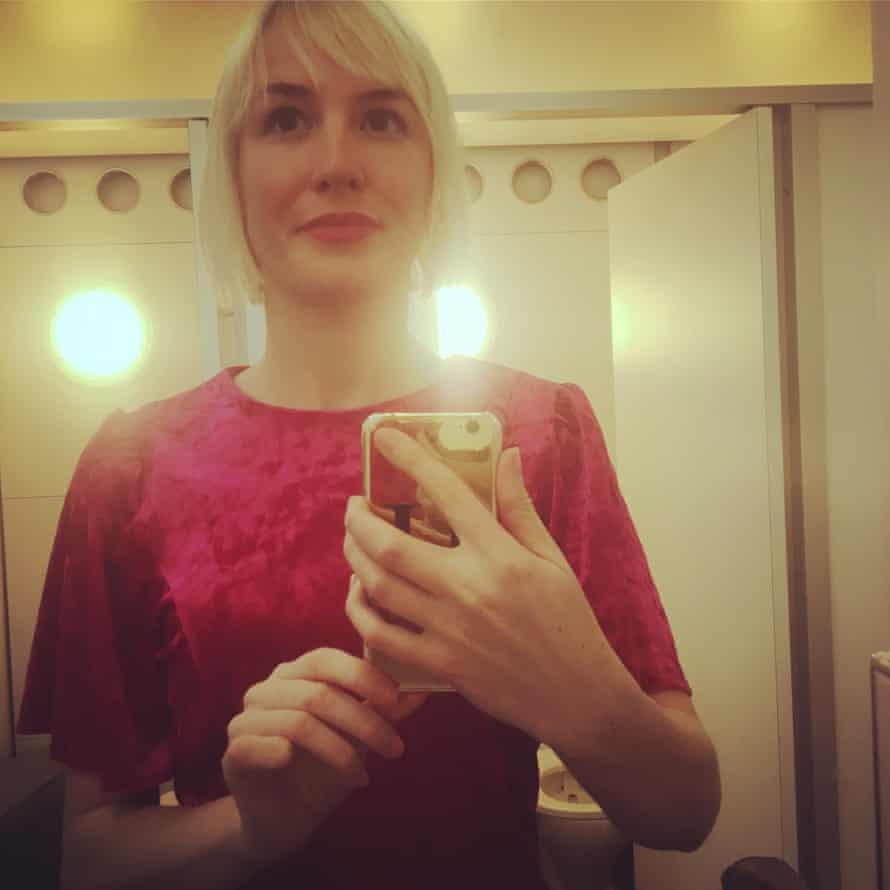 Hannah's loo selfie.