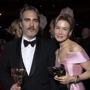 Joaquin Phoenix takes Leading Actor and Renee Zellweger takes Leading Actress.