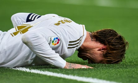 Sergio Ramos shows his frustration during Real Madrid's 0-0 draw at home to Athletic Bilbao