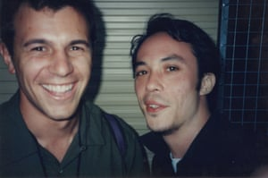 Jon Coghill, drummer of Powderfinger, and Martin Lee, drummer of Regurgitator