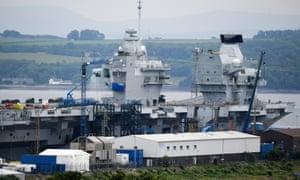 HMS Queen Elizabeth being built at Rosyth dockyard