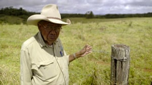 Ernie Raymont, a Mumu-Ngajdon elder, at Boonjie, close to where the Butchers Creek massacre took place in 1887.