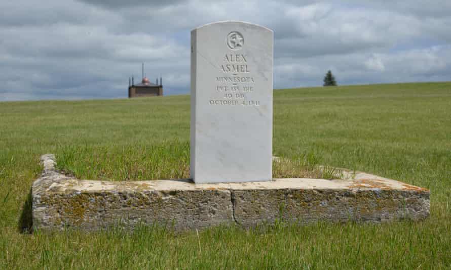 A military tombstone in Ross, North Dakota's Muslim cemetery.