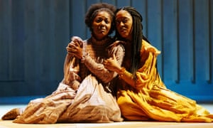 T'Shan Williams (Celie) and Danielle Fiamanya (Nettie) in The Color Purple.
