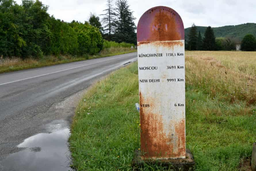 Cahors, France. The road without borders No 1 was inaugurated in 1950.
