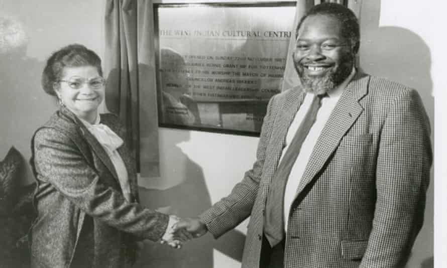 The MP Bernie Grant opening the West Indian Cultural Centre in Wood Green in 1987.