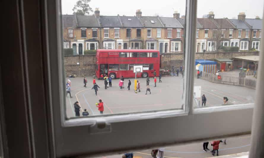 Children at Daubeney primary school in east London.