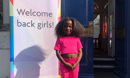 Yvonne Ndege's daughter Safari arriving back at school after lockdown