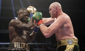 Deontay Wilder (left) holds the WBC heavyweight title and could fight Tyson Fury again.