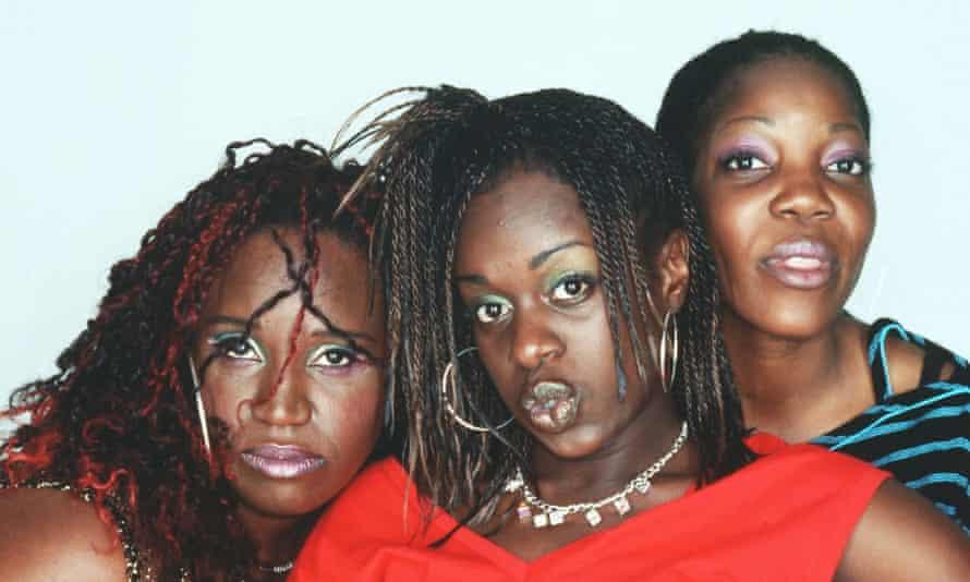 3 Non-Blondes, from left, Ninia Benjamin, Tameka Empson and Jocelyn Jee Esien.