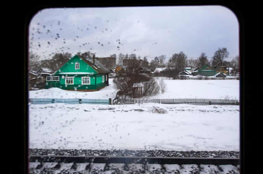 View from window of the Trans-Siberian train