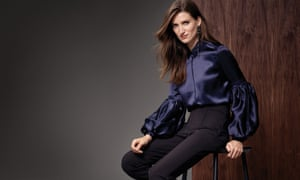 A dress to impress: statement sleeves are a recurring theme in M&S's autumn collection.
